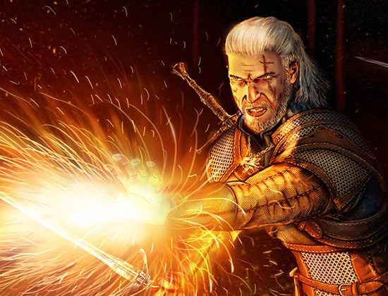 Witcher Fire and sword @rights reserved D.F.