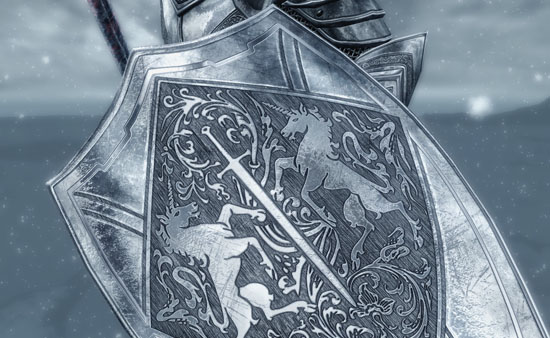 SPOA Silver Knight Shield @rights reserved D.F.