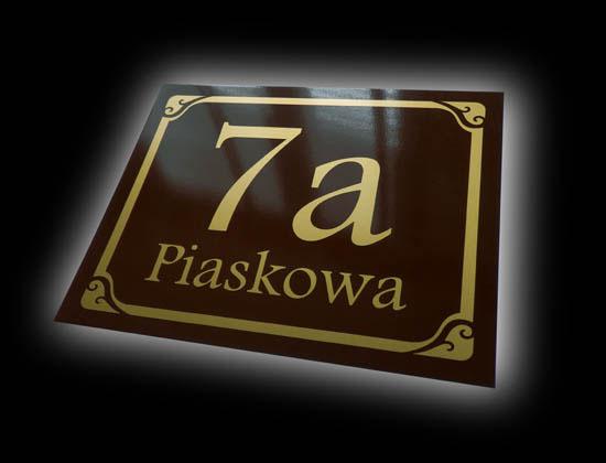 address plaques sign
