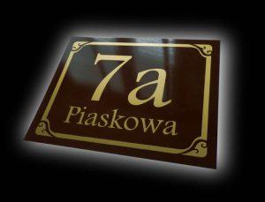 tabliczka adresowa wzór B