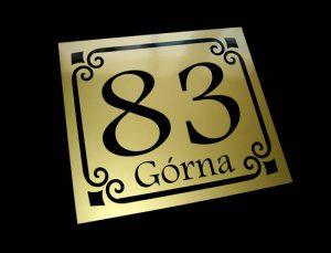 tabliczka adresowa wzór G