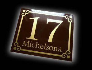metalowa tabliczka adresowa wzór L