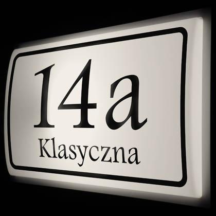 podświetlany numer domu LED wzór K