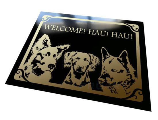 Welcome! Hau! Dog plaque